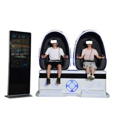 Indoor Game Center Virtual Reality Motion Chairs 210cm*110cm*200cm 360° Rotation