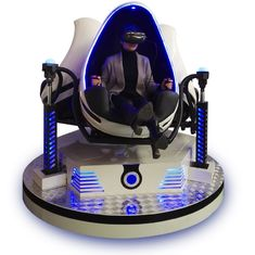 360 Degree VR Motion Chair , Children / Adults 3 Seats 9D VR Egg Chair