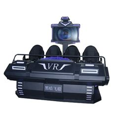 4 Seat Virtual Reality Cinema , Family 9D Movie Theater Stable And Clear